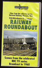 RAILWAY ROUNDABOUT 1960 - P.B. WHITEHOUSE & J. ADAMS - VHS PAL (UK) VIDEO - RARE