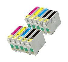 10 CARTUCCE STAMPANTE PER EPSON T0711 T0712 T0713 T0714 CON CHIP Stylus DX4450