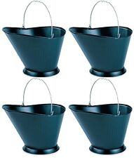 (4) ea PANACEA 15341 BLACK METAL FIREPLACE COAL HOD ASH BUCKETS