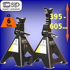 SIP 03641 Pair Professional 6 Ton Axle Stands jack car van garage vehicle truck