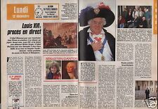 Coupure de presse Clipping 1988 Louis XVI le procès en direct (2 pages)