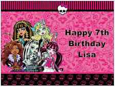 "Monster High Personalizado Cake Topper Comestibles De Oblea De Papel A4 7.5 ""en un 10"""