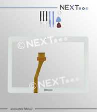 "Touch screen per schermo samsung galaxy tab 2 bianco N8000 P5100-5110 10,1""+kit"