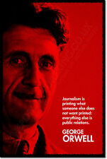 "GEORGE ORWELL ""RED"" ART QUOTE PRINT PHOTO POSTER GIFT ANIMAL FARM 1984"