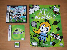 Disney's Alice in Wonderland  Nintendo DS Game Complete Fun Games With Poster