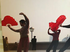 2 CHINESE XL RED RIGHT LEFT HAND KUNG FU TAIJI TAI CHI FAN DANCE NEW YEAR PARTY
