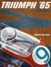 1965 Triumph full model line brochure 4 page catalog Bonneville T120TT, Cub,T100