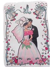 Vitrostatiques électrostatiques couple de mariés coeurs mariage decoration noces
