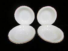 4 USA French Saxon China Berry Sherbert Vintage Bowls Cream and Gold Classy