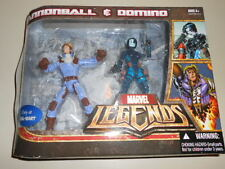 CANNONBALL & DOMINO ( WALMART ONLY ) RARE ( 2007 ) MARVEL LEGENDS ACTION FIGURES