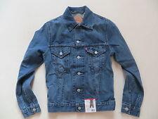 Levi's® Herren Biker Jacke Jeansjacke Gr. S, NEU ! Faded washed, Vintage Denim !