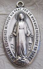 Vintage Catholic Religious Holy Medal - Miraculous Medal BEAUTIFUL A CLASSIC