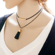 Gothic Velvet Retro Choker Collar Necklace Jewelry Multilayer tassel Pendant