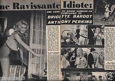Coupure de presse Clipping 1964 Brigitte Bardot & Anthony Perkins  (2 pages)