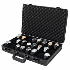 Watch Case 24 Watches Collectors Briefcase Aluminum black ALBX24BK Tech Swiss