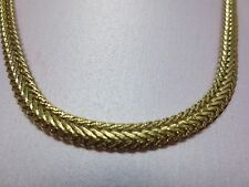 20 INCH 14 KT  GOLD EP  6MM FOXTAIL WOVEN WHEAT DESIGNER CHAIN NECKLACE