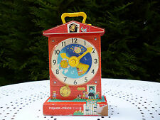 ☺ Music Box Teaching Clock Fisher Price Vintage Authentique, Model de 1962 ☺