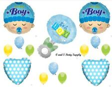 BOY RATTLE BABY SHOWER PARTY BALLOONS Decorations Supplies Blocks It's A Blue