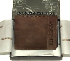 Portafoglio Uomo Marrone Scuro Napapijri Wallet Men Dark Brown Tyin Billfold N6Z