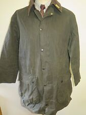 "Barbour A200 frontière waxed jacket-m 40"" euro 50 ou uk 16 en vert"