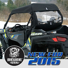 Deuce USA Polaris 2016-2015 RZR S 900, 900XC, S900 EPS Soft Top Window Set