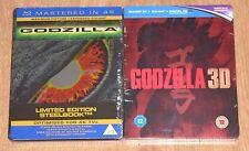 Godzilla 1998 and Godzilla 2014 (blu-ray) Steelbook. NEW and SEALED (UK release)