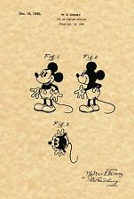 Patent Print - Vintage Mickey Mouse Toy 1930. Walt Disney. Ready To Be Framed!