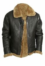 B3 pilot flying leather Real fur Brown ginger Jacket