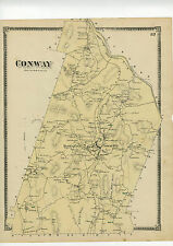 1871 Beers Map of Conway, Mass. Beers original map from Atlas of Franklin County