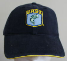 Bass Pro Shop Cap Velcro Adjustable Back Fishing Outdoor Embroidered Hat Blue