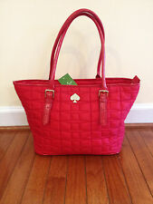 NWT Kate Spade Quilted Signature Spade Small Harmony Handbag Lacquered Red