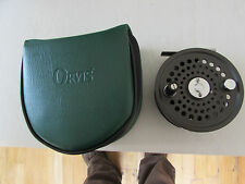 stunning orvis battenkill disc england 8/9 trout fly fishing reel & zipper case