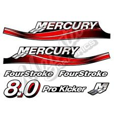 MERCURY 8hp 4 Stroke DECAL KIT - OUTBOARD DECALS
