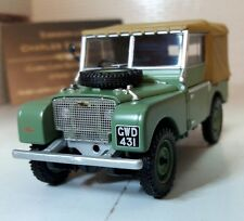 "1:43 Scale 1948 Land Rover Series 1 80"" Canvas Corgi Vanguards Diecast Model"