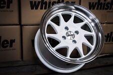 Whistler KR7 Wheels Rims 15x8 4x100 +0 Offset White EG EK Civic Integra Scion xB