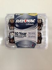 New Rayovac Lithium, 9 Volt Battery, 10 Year Service Life, 8 Pack R9VL-8