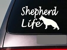 "GSD life 6"" sticker *E752* schutzhund decal vinyl k9 german shepherd"