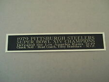 Pittsburgh Steelers Super Bowl 14 Nameplate For A Football Jersey Case 1.5 X 8