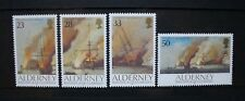 ALDERNEY 1992 Battle of La Hogue Ships. Set of 4. Mint Never Hinged. SGA52/A55.