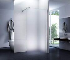 Luxus Duschabtrennung Walk-In Duschwand Dusche 120 x 200 cm Satiniert 10mm Glas