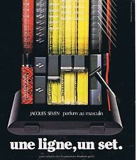PUBLICITE ADVERTISING 124 1977 JACQUES SEVEN Parfum au masculin