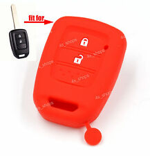 Red Silicone Cover Case For Honda Fit XR-V Accord Odyssey Crosstour Remote Key