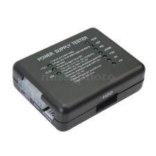Tester Checker Alimentatori PC ATX 20/24 PIN Molex Floppy Accessori Desktop Nero