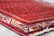 "Vintage Persian SARABAND MIR BOTEH 3'.5""X10'Handknotted100% Wool Pile Rug FK*165"