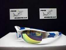 NEW FINZ POLARIZED SPORT SUNGLASSES WHITE-BLUE / GOLD MIRROR LENS.......AWESOME