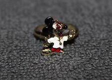 VINTAGE DISNEY MICKEY MOUSE COLORED ADJUSTABLE RINGS NOS