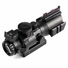4 X 32 Compact Rifle Scope Fiber Sight 20MM Rail for Hunting AUS