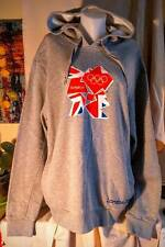 Grey Adidas Official London 2012 Hooded Sweatshirt Size XXL