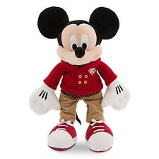 "MICKEY MOUSE HOLIDAY PLUSH CHRISTMAS ""DISNEY STORE 2016"" EMBROIDERY ON FOOT NWT"