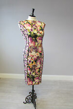 PHASE EIGHT DITSY FLORAL  DRESS - SIZE 14 - LINED - MULTI